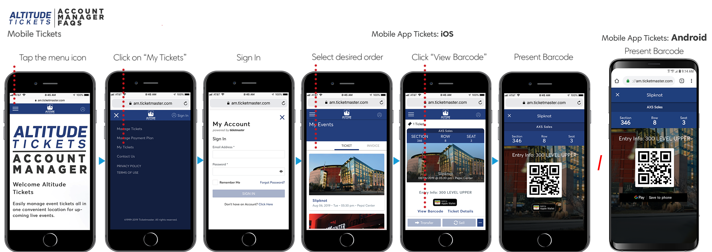 How to use Mobile Tickets – Altitude Tickets Self Help